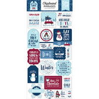 Echo Park - Christmas - My Favorite Winter Collection - Chipboard Stickers - Phrases