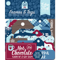 Echo Park - Christmas - My Favorite Winter Collection - Ephemera - Frames and Tags