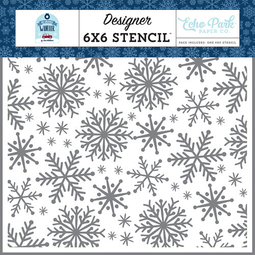 Echo Park - Christmas - My Favorite Winter Collection - 6 x 6 Stencil - Snow Fun