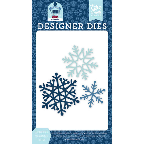Echo Park - Christmas - My Favorite Winter Collection - Designer Dies - Winter Chill Snowflakes