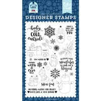 Echo Park - Christmas - My Favorite Winter Collection - Clear Photopolymer Stamps - You Warm My Heart