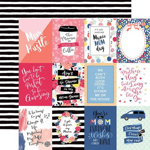 Echo Park - I am Mom Collection - 12 x 12 Double Sided Paper - 3 x 4 Journaling Cards