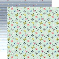 Echo Park - I am Mom Collection - 12 x 12 Double Sided Paper - Sweet Butterflies