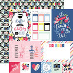 Echo Park - I am Mom Collection - 12 x 12 Double Sided Paper - 4 x 6 Journaling Cards