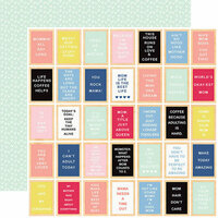 Echo Park - I am Mom Collection - 12 x 12 Double Sided Paper - Inspirational Letterboards