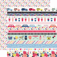 Echo Park - I am Mom Collection - 12 x 12 Double Sided Paper - Border Strips