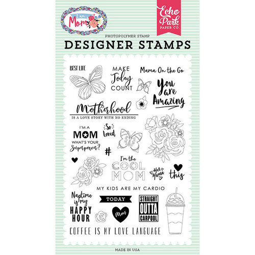 Echo Park - I am Mom Collection - Clear Photopolymer Stamps - Motherhood