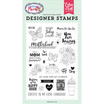 Echo Park - I am Mom Collection - Clear Acrylic Stamps - Motherhood