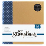 Echo Park - My StoryBook - 6 x 8 Photo Journal - Navy Dot