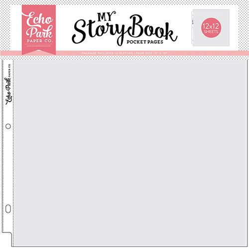 Echo Park - My StoryBook - 12 x 12 Pocket Page - 12 x 12 Pocket - 10 Pack