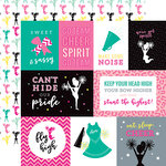 Echo Park - Cheer Collection - 12 x 12 Double Sided Paper - Journaling Cards