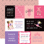 Echo Park - Ballet Collection - 12 x 12 Double Sided Paper - Journaling Cards