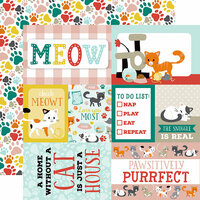 Echo Park - Cat Collection - 12 x 12 Double Sided Paper - Journaling Cards
