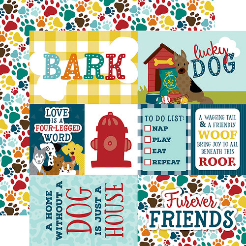 Echo Park - Dog Collection - 12 x 12 Double Sided Paper - Journaling Cards