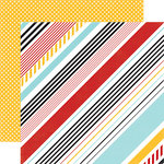 Echo Park - Magic and Wonder Collection - 12 x 12 Double Sided Paper - Wonder Stripes
