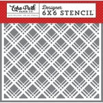Echo Park - Magic and Wonder Collection - 6 x 6 Stencil - Magical Plaid