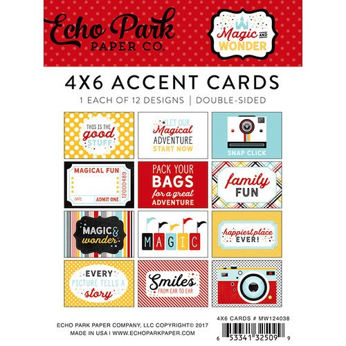 Echo Park - Magic and Wonder Collection - 4 x 6 Pocket Page Cards