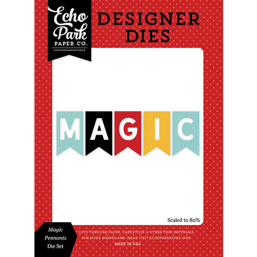 Echo Park - Magic and Wonder Collection - Designer Dies - Magic Pennants
