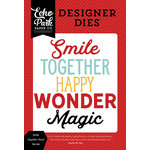 Echo Park - Magic and Wonder Collection - Designer Dies - Smile Together Word