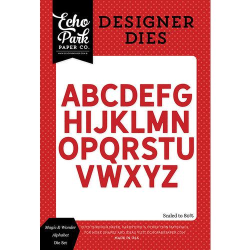 Echo Park - Magic and Wonder Collection - Designer Dies - Alphabet