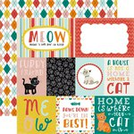 Echo Park - Meow Collection - 12 x 12 Double Sided Paper - Journaling Cards