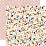 Echo Park - Meow Collection - 12 x 12 Double Sided Paper - Kitty Paws