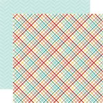 Echo Park - Meow Collection - 12 x 12 Double Sided Paper - Kitty Plaid
