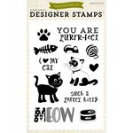 Echo Park - Meow Collection - Clear Acrylic Stamps - Pretty Kitty