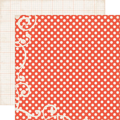 Echo Park - Note to Self Collection - 12 x 12 Double Sided Paper - Red Dots