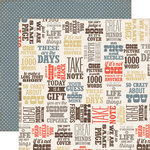 Echo Park - Note to Self Collection - 12 x 12 Double Sided Paper - Quotes