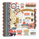 Echo Park - Note to Self Collection - 12 x 12 Cardstock Stickers - Elements