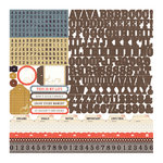 Echo Park - Note to Self Collection - 12 x 12 Cardstock Stickers - Alphabet