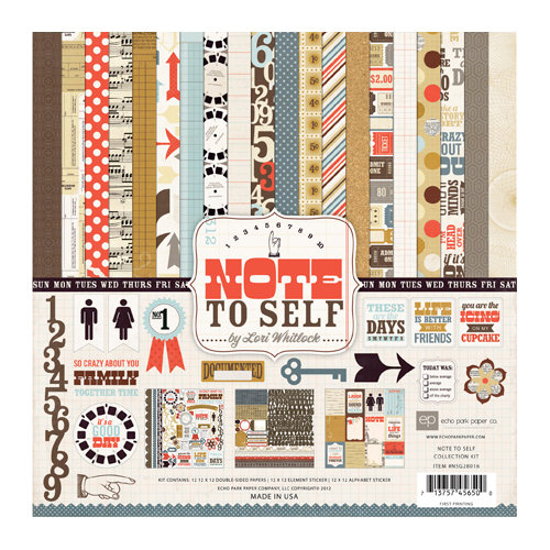 Echo Park - Note to Self Collection - 12 x 12 Collection Kit