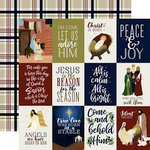 Echo Park - Oh Holy Night Collection - Christmas - 12 x 12 Double Sided Paper - 3 x 4 Journaling Cards