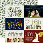Echo Park - Oh Holy Night Collection - Christmas - 12 x 12 Double Sided Paper - 4 x 6 Journaling Cards