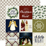 Echo Park - Oh Holy Night Collection - Christmas - 12 x 12 Double Sided Paper - 4 x 4 Journaling Cards