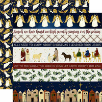 Echo Park - Oh Holy Night Collection - Christmas - 12 x 12 Double Sided Paper - Border Strips