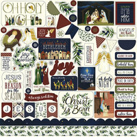 Echo Park - Oh Holy Night Collection - Christmas - 12 x 12 Cardstock Stickers - Elements