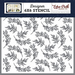 Echo Park - Oh Holy Night Collection - Christmas - 6 x 6 Stencil - Olive Branch