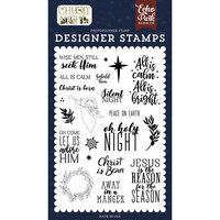 Echo Park - Oh Holy Night Collection - Christmas - Clear Photopolymer Stamps - Christ is Born