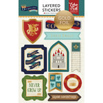 Echo Park - Once Upon A Time Collection - Prince - Layered Cardstock Stickers with Foil Accents
