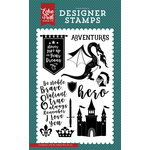 Echo Park - Once Upon A Time Collection - Prince - Clear Acrylic Stamps - Valiant Hero