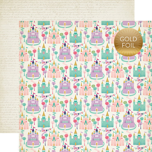 Echo Park - Once Upon A Time Collection - Princess - 12 x 12 Double Sided Paper with Foil Accents - Dream Castles