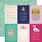 Echo Park - Once Upon A Time Collection - Princess - 12 x 12 Double Sided Paper with Foil Accents - 4 x 6 Journaling Cards