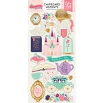 Echo Park - Once Upon A Time Collection - Princess - Chipboard Stickers with Foil Accents