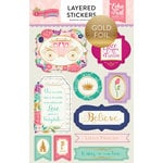 Echo Park - Once Upon A Time Collection - Princess - Layered Cardstock Stickers with Foil Accents