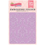 Echo Park - Once Upon A Time Collection - Princess - Embossing Folder - Enchanted Damask