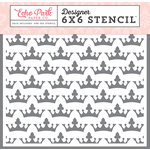 Echo Park - Once Upon A Time Collection - Princess - 6 x 6 Stencil - Royal Crowns