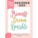 Echo Park - Once Upon A Time Collection - Princess - Designer Dies - Princess Word