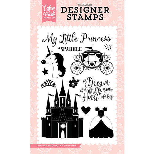 Echo Park - Once Upon A Time Collection - Princess - Clear Acrylic Stamps - My Little Princess